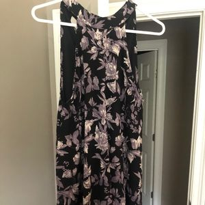 Audrey 3+1 Purple and Black tank dress